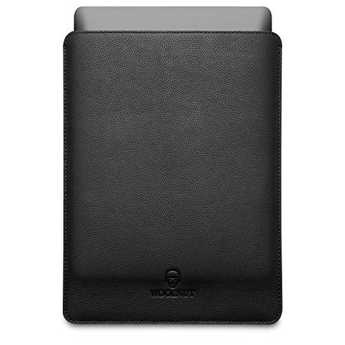 Woolnut Leder Sleeve Hülle Hülle Tasche für MacBook Pro 16 Zoll - Schwarz