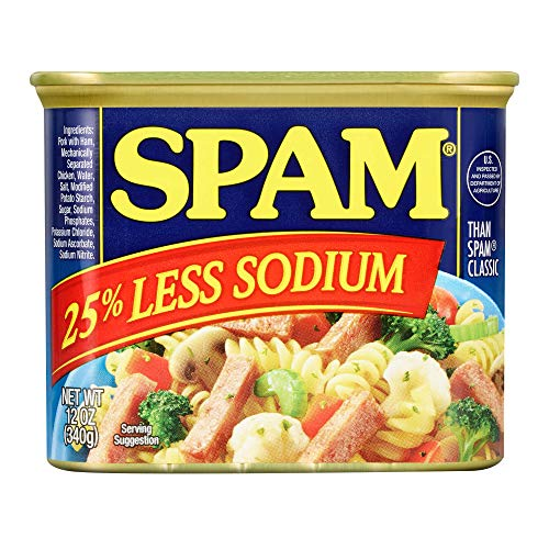 Spam Less Salt Cans - 12 oz - 6 pk