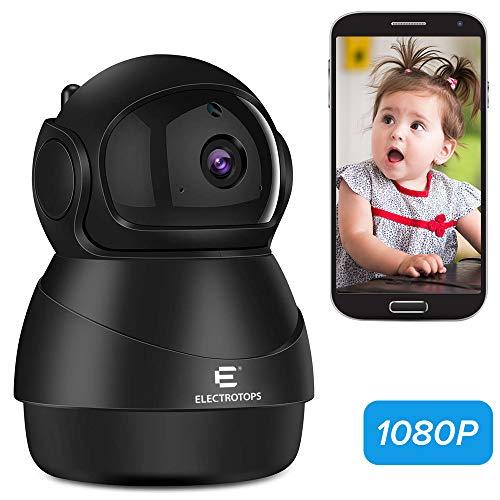 IP Kamera WiFi 1080P, Innen / Draussen Überwachungskamera mit Nachtsicht Bewegungserkennung 2-Wege-Audio Heimsicherheit Überwachung PTZ Überwachen Sie für Baby / Ältester / Haustier