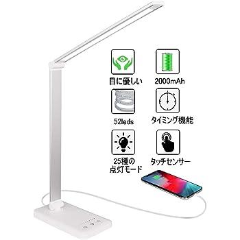 Rakuminyou デスクライト 多角度調整可能 タッチセンサー5段階調光5段階調色500ルーメン (シルバー)