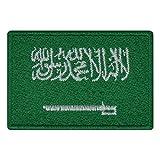 benobler FanShirts4u Aufnäher - Saudi ARABIEN - Fahne - 8 x 5,5cm - Bestickt Flagge Patch Badge Wappen Saudi Arabia (Grüne Umrandung)