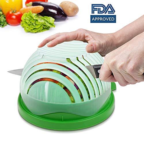 Annstory Salad Cutter Bowl, Vegetable Chopper Upgraded Salad Maker Fast Fresh Fruit Salad Slicer, FDA Approved for Kitchen