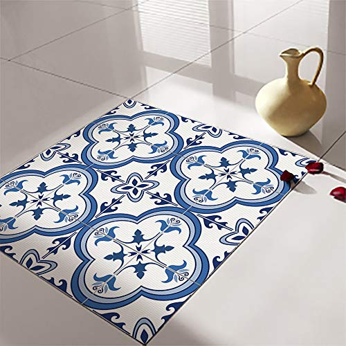 4 pegatinas autoadhesivas para azulejos, diseño portugués, para cocina, baño, sala de estar, extraíble, despegable, resistente al agua y a prueba de abrasión, pegatinas para azulejos