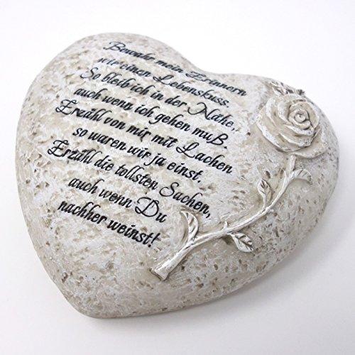 Herz mit Spruch : Bewahr mein Erinnern wie einen Lebenskuss. So bleib ich in der Nähe. 18cm. 1 Stück