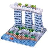 Unbekannt Nanoblock NBH-123 Marina Bay Sands - Puzzle 3D (250 Piezas, Nivel 2, Nivel de dificultad 2)