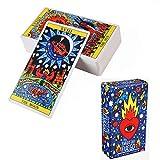 Gxnimer 78PCS Spanische Karten für Wahrsagerei Tarotkarten - Tabletop Casual Games für Familienfeiern
