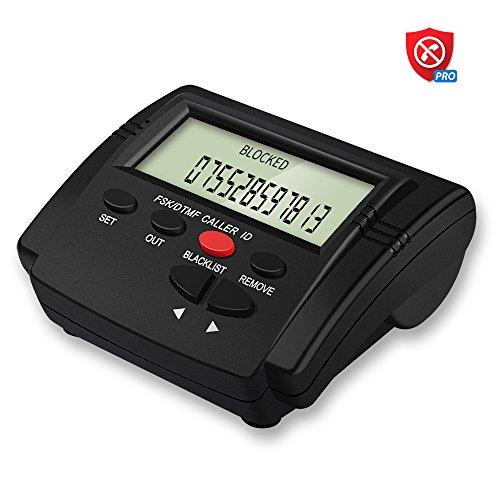 Codomoxo Powering Land Line Phone Call Blocker, 16000 cifre numerano la capacità della lista nera, blocca i televisori, i robot