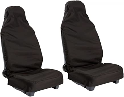 wlw seatc502 Front Waterproof Nylon Car Seat Covers Protectors  Black