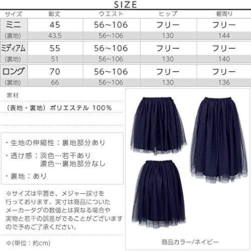 KOBELETTUCE(神戸レタス)『フレアチュールスカート(M1410)』