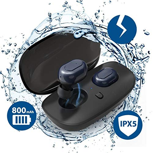 PXCAO draadloze oordopjes, 3D stereo sound bluetooth hoofdtelefoon, mini draadloze koptelefoon oordopjes met microfoons, sport-in-ear oordopjes met oplaadbox