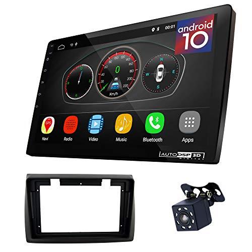 UGAR EX10 9 inch Android 10.0 DSP Navigazione GPS per Autoradio + 11-059S Kit di montaggio compatibile con FIAT Stilo 2001-2007