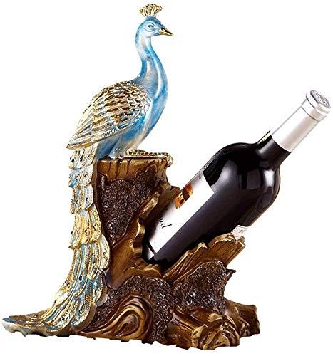 JJ0226 Tablero de vino Almacenamiento de vino Rack Sala de estar Mesa de comedor Mesa de vino Decoración Muebles familiares Artesanía Peacock Estante de vino Decoración Accesorios para el hogar Color