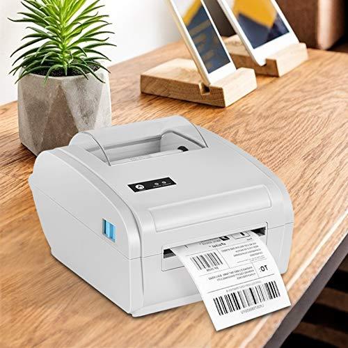 KKTECT Thermo Etikettendrucker 6x4,4 x 6 Zoll 100x150 mm USB, Bluetooth-Schnittstelle Kurierdrucker Kompatibel mit Royal Mail, Hermes, Etsy, UPS Versand, Kompatibles Windows, Android