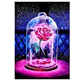 Kits de pintura de diamante 5D cuadrado completo taladro rosa bordado arte arte para decoración de pared del hogar 30 x 40 cm