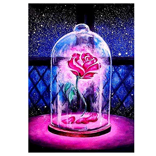 5D Diamond Painting Kits Square Full Drill Rose Rhinestone Embroidery Arts Craft for Home Wall Decor 30x40cm