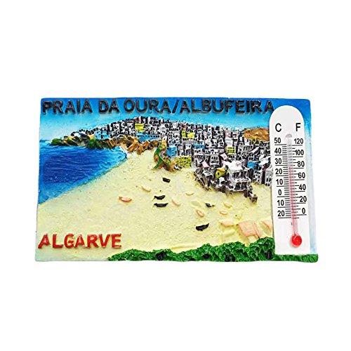 Imán para nevera 3D del Algarve Portugal recuerdo de viaje, decoración para el hogar y la cocina, imán para nevera