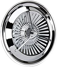 Polara Style Tri-Bar Turbine Chrome Hubcaps, 15 Inch, Set/4