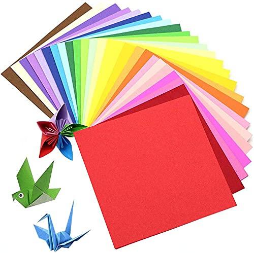 BN Origami,Papel Origami 100 Hojas de Doble Cara 20 × 20cm de Papel para decoración de Fiesta de Inicio de Juguete de los niños
