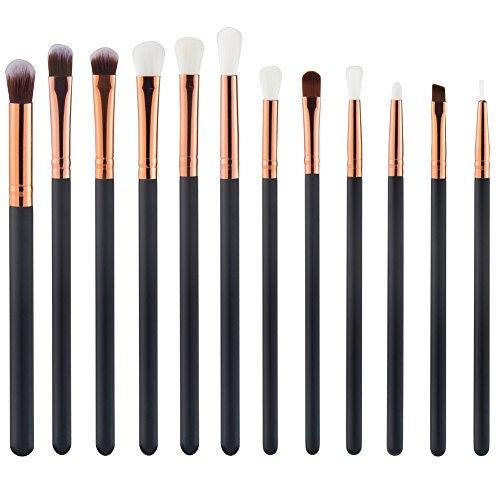 Demarkt 12 PCS Augen Makeup Pinsel Bürsten Schminkpinsel Kosmetikpinsel Make Up Pinsel Kosmetik Set...