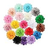 Miaoo 20pinces  cheveux  fleurs en mousseline de soie, pour bbs et enfants