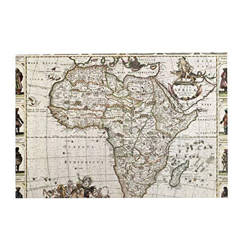 África viejo mapa Puzzle   rompecabezas para adultos 500 piezas Puzzle de fotos Rompecabezas