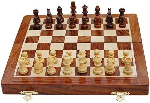 Metallic India Juego de ajedrez plegable de madera premium hecho a mano con piezas magnéticas y extra queen, 25,4 x 25,4 cm