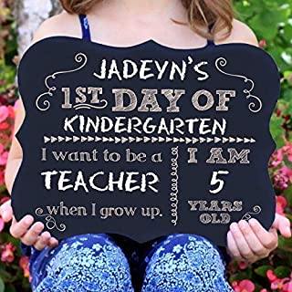 First Day Of School Chalkboard Sign, Reusable sign