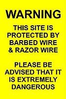 警告このサイトは保護されていますティンサインの装飾ヴィンテージの壁メタルプラークレトロな鉄の絵カフェバー映画ギフト結婚式誕生日警告