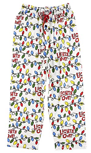 Lazy One Pajama Pants for Men, Men's Separate Bottoms, Lounge Pants, Animal, Christmas, Reindeer (Lights Out!, Medium)