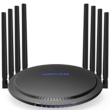 WAVLINK WiFi Smart Router AC3000 MU-MIMO Wireless Tri-Band Gigabit/High Speed WiFi Range Extender with Touchlink,4K Streaming and Gaming with USB 3.0 Ports Wireless Internet Router