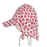 PAADIYA Boomly Niños Bebé Sombrero para El Sol UV50 + Proteccion Verano Pescar Sombreros Plegable Gorro De Playa con Ajustable Correa De La Barbilla Secado Rápido Gorra Exterior
