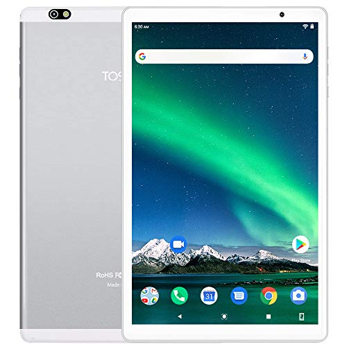 Tablet 10 Pollici 5G WiFi - TOSCIDO Android 10.0 , 1920x1200 HD IPS, Octa Core, 64G ROM, 3GB di RAM, 13MP e 5MP Camera, WiFi / Bluetooth5.0 / GPS, 6000 MAh, Tipo C - Argento