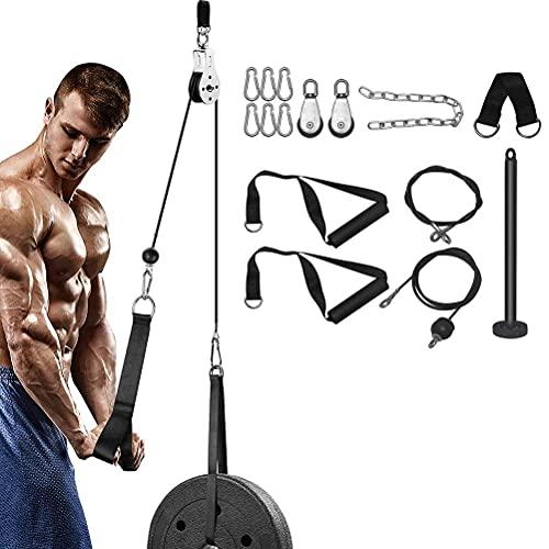 GDZTBS Sistema de Polea de Elevación, Pasador de Carga Mejorado para Tríceps, Flexión de Bíceps, Espalda, Antebrazo, Hombro, Equipo de Gimnasio en Casa