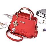 Bolsos de Moda Bordados Multicapa Bolso Cuadrado pequeño Bolso de Moda Bolso Rojo