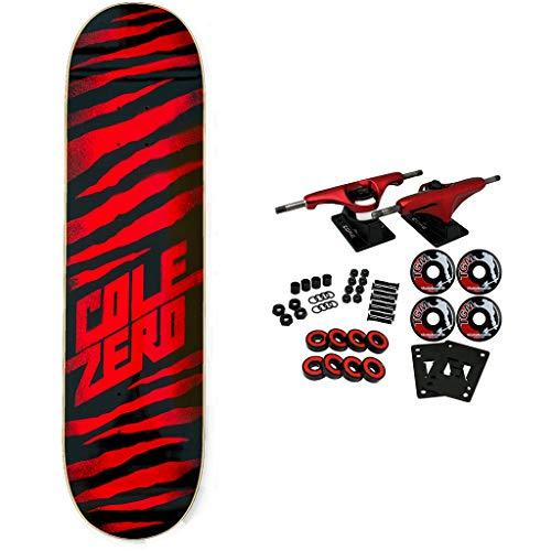 "Zero Skateboards Complete Chris Cole Ripper Oxblood 8.25"""