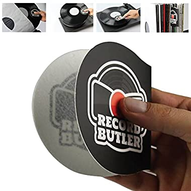 THE RECORD BUTLER 2-PACK Anti Static Record Cleaner & Handler. Soft Fleece Cradles Your Records Eliminating Dirty Fingers From Touching the Vinyl.