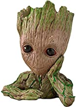 Unique Shape Marvel Avengers Infinity War Pot Groot Wooden Look Tree Flowerpot Cum Pen Container- Tree Man