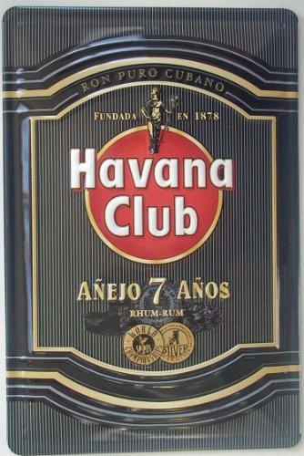 Havana Club Cuban Rum Black Label Stahl Zeichen 300mm x 200mm (hi)