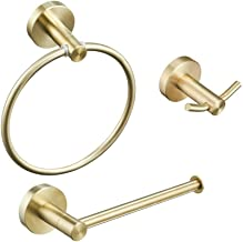 Bathroom Accessories 3-Pieces SUS 304 Stainless Steel Wall Mount Bathroom Hardware Set-Hand Towel Ring, Towel Bar, Towel H...