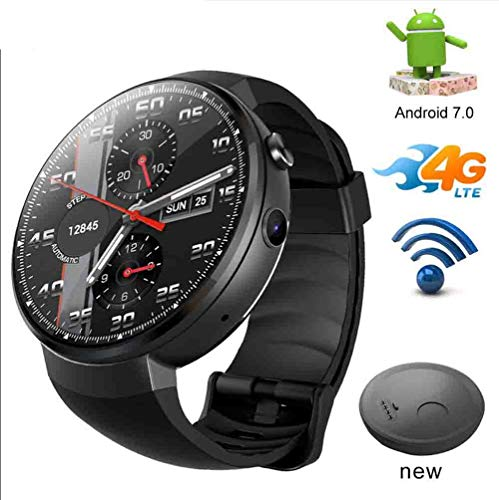 HFJ&YIE&H 4G LTE Smart Watch Android 7.1 Smartwatch mit SIM-Karte Kamera-Übersetzungstool Fitness Tracker Smartwatch Telefon Männer Frauen