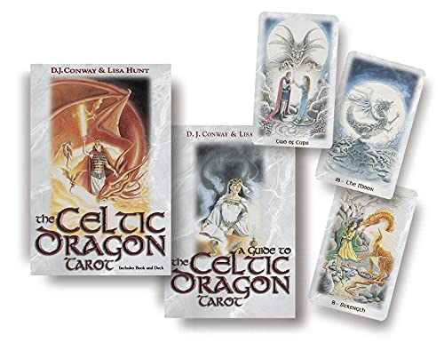 The Celtic Dragon Tarot kit - Tarot Cards Deck with Guide Book - Witchcraft, Witch, Wiccan, Wicca, Pagan, Spiritual, Unique Gifts dragaons 506002