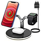 Magnetisches Kabelloses Ladegerät, 3 in 1 Wireless Charger mit Lampe, 15W...