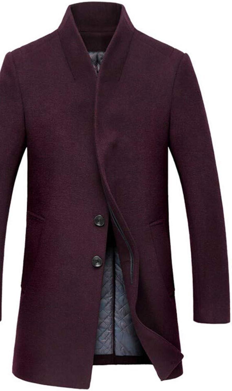 SHKAC Coats Winter Coat Men Long Sections Thick Coats Mens Casual Jacket Coat Overcoat