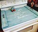 Farmhouse Noodle Board Stove Cover, Oven Cover, Serving Tray, Farmhouse Decor, Kitchen Storage, Asst Colors