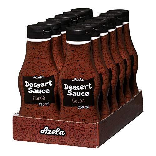 AZELA - Sirope de chocolate en botella exprimible (12 unidades de 300 g)