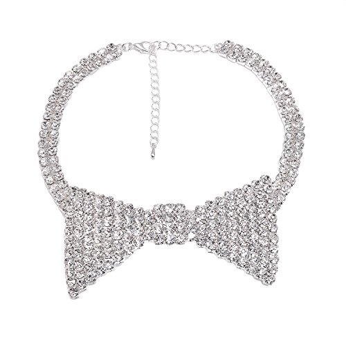 Spinningdaisy Bowtie Ribbon Choker for Women and Some Playful Men