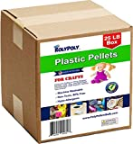 Plastic Pellets Bulk for Weighted Blankets, Bean Bags Bulk Box (25 pounds) Non-Toxic, Premium Quality Made in the USA for Rock Tumbling, Stuffing & Filling Dolls, Crafts