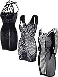LOVELYBOBO 3 Pack Mini Vestido Fancy Mujer Chemise negligrees Stretch para Topshop Popular Fashion