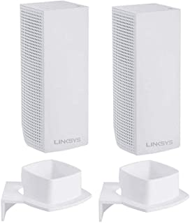 Koroao Wall Mount Bracket, Wall Mount Ceiling Compatible with Linksys Velop Tri-Band Whole Home WiFi Mesh System (2PACK)