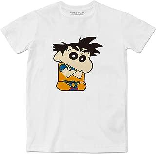 Goku Shin Chan White Couple T-Shirt Fashion Funny Tee